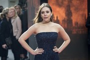 Elizabeth Olsen Strapless Dress