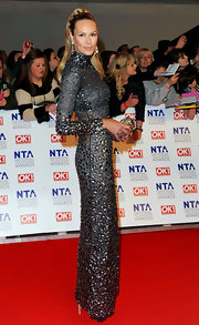 Elle MacPherson was glitzy-glam at the National Television Awards.