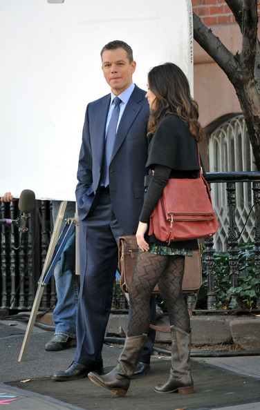 Emily Blunt Leather Messenger Bag
