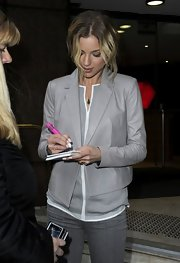 Emily VanCamp wore a Blue Drusy pendant while out meeting fans in Sydney, Australia.