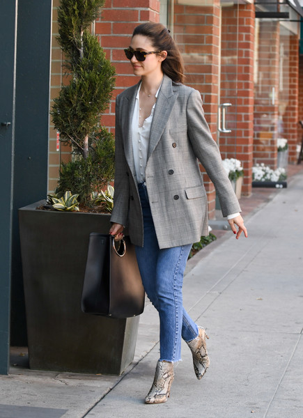 More Pics of Emmy Rossum Ankle Boots (1 of 11) - Ankle Boots Lookbook - StyleBistro