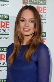 Laura Haddock chose a long, elegant cut with a center part for her sleek and pretty red carpet-beauty look.