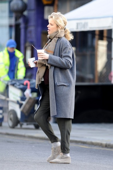 More Pics of Eva Herzigova Wool Coat (5 of 13) - Eva Herzigova Lookbook - StyleBistro