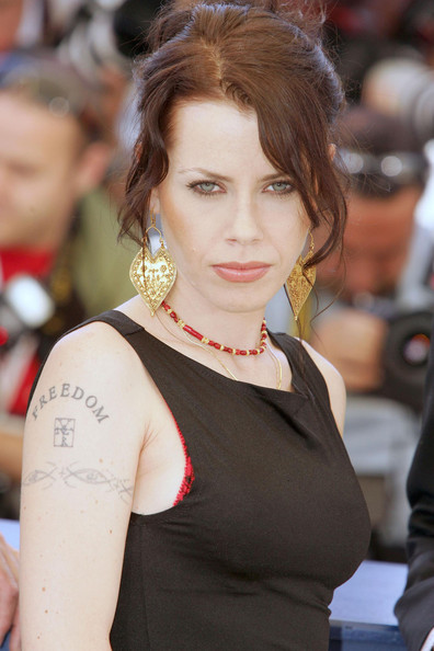 Fairuza Balk Lettering Tattoo