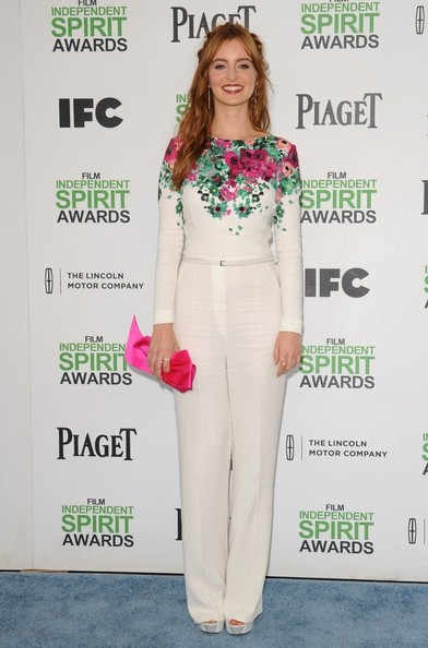 Ahna O'Reilly charmed in a floral Elie Saab jumpsuit at the Film Independent Spirit Awards.