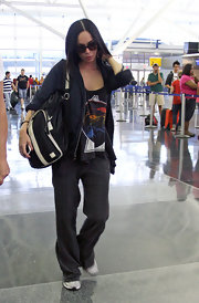 Megan Fox stayed casual and comfy while walking through JFK International Airport.