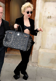 Lady Gaga was spotted out an about in Nightmare shoes.