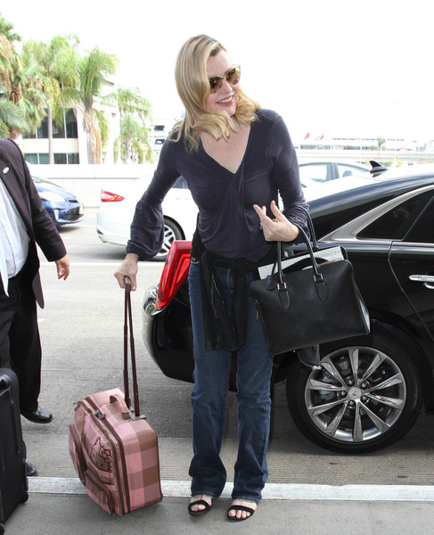 Geena Davis Leather Tote