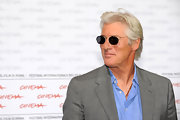 Richard hit the Rome Film Festival looking very Roman Holiday in an unbuttoned blue shirt and floating lens shades.