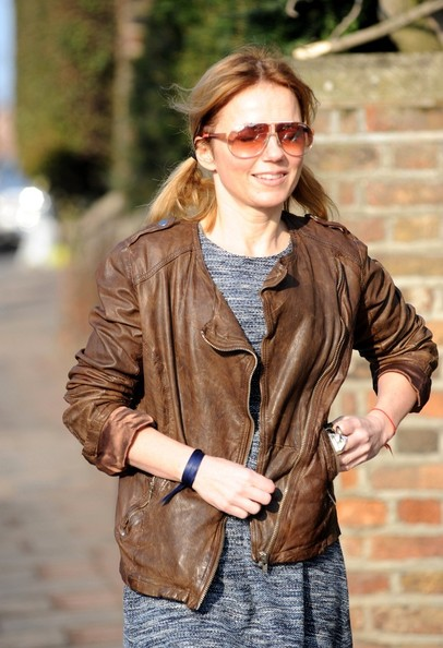 More Pics of Geri Halliwell Leather Jacket (1 of 9) - Geri Halliwell Lookbook - StyleBistro