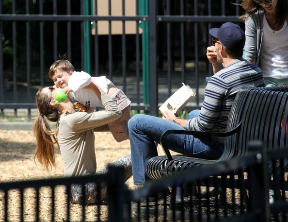Gisele and Family at the Playground