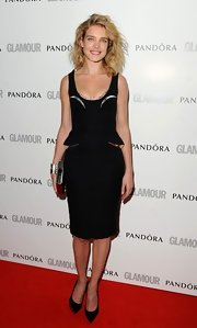 Natalia Vodianova put a spin on the basic LBD with this metallic-adorned one at the Glamour Women of the Year Awards.