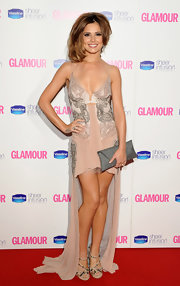 Cheryl paired her Julien Macdonald gown with the gorgeous crystal-studded Quinze Sandals.