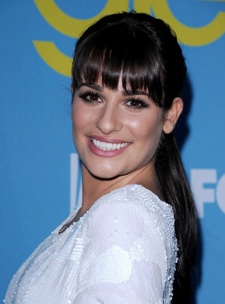 More Pics of Lea Michele Ponytail (1 of 16) - Long Hairstyles Lookbook - StyleBistro