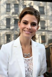 Maria Menounos wore a pale shimmering pink lipstick during an appearance on 'Good Day New York.'
