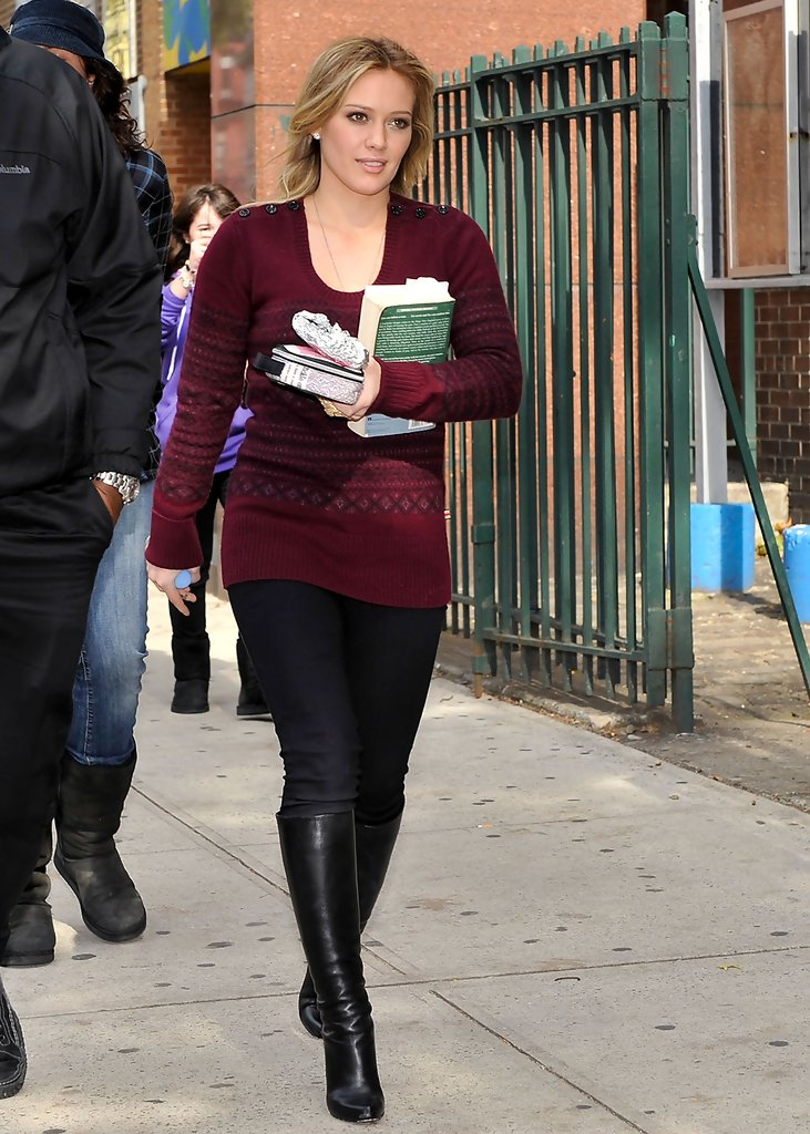 More Pics Of Hilary Duff Knee High Boots 3 Of 3 Hilary