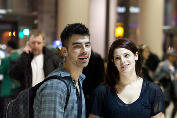 Joe Jonas Ashley Greene Joe Jonas and Ashley Greene at LAX