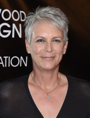 Jamie Lee Curtis rocked a silver pixie at the 2015 HFPA Grants Banquet.