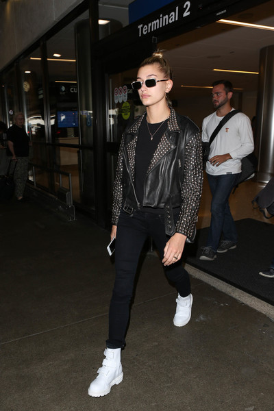 Hailey Bieber Leather Jacket