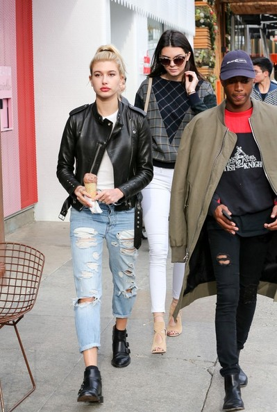 Hailey Bieber Leather Jacket [stock photography,street fashion,clothing,fashion,jeans,outerwear,footwear,jacket,denim,fashion design,leg,jeans,outerwear,kendall jenner,hailey baldwin,fashion,model,vogue,celebrity,los angeles,hailey rhode bieber,justin bieber,kendall jenner,fashion,model,stock photography,vogue,celebrity,socialite]
