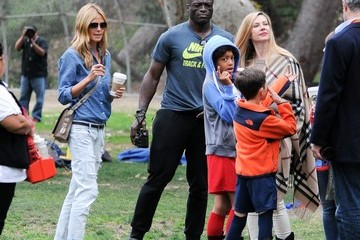 Heidi Klum Seal Seal and Heidi Klum Soccer Go to their Kids' Soccer Game