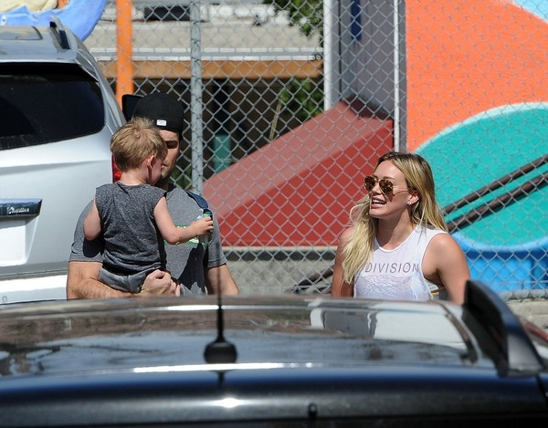 Hilary Duff Out with Her Family in LA