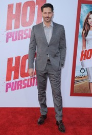 Joe Manganiello completed his outfit with a pair of brown leather lace-ups.