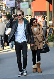 Vanessa Hudgens spent the afternoon in Soho wearing a comfy pair of Uggs.