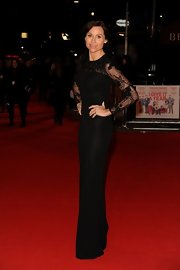 Minnie Driver looked phenom at the 'I Give it a Year' premiere wearing this classic beaded black gown.