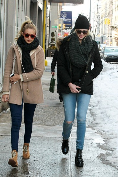 More Pics of Gigi Hadid Lace Up Boots (2 of 6) - Boots Lookbook - StyleBistro []