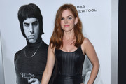 Isla Fisher Leather Dress