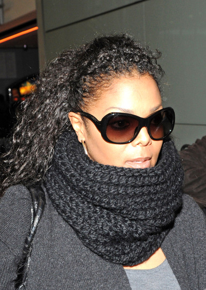 Janet Jackson Rectangular Sunglasses