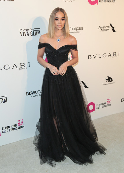 Jasmine Sanders Off-the-Shoulder Dress