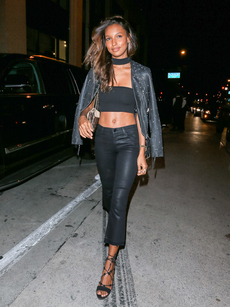 Jasmine Tookes Leather Pants
