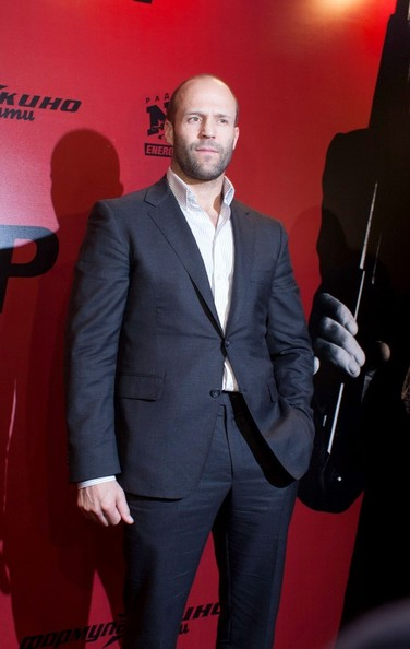Jason Statham Promotes 'Parker' in Moscow