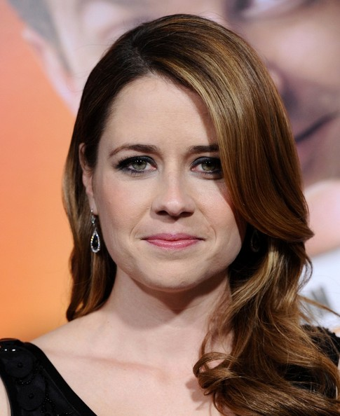 Jenna Fischer Dangling Gemstone Earrings