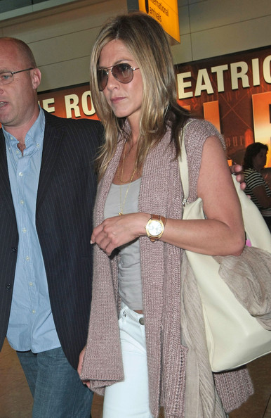 Jennifer Aniston Leather Band Chronograph Watch