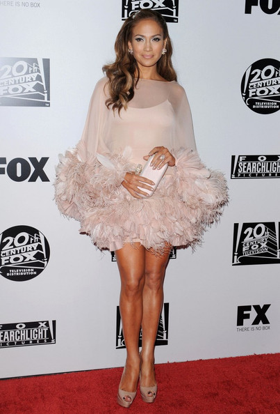 Jennifer Lopez Is A Blush Feathered Beauty In A Marchesa