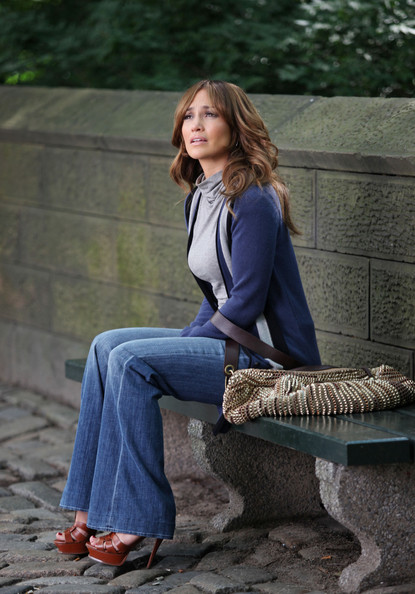 Jennifer Lopez Metallic Hobo