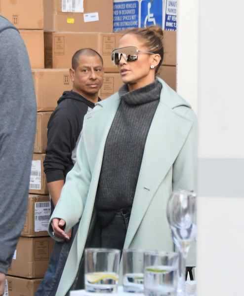Jennifer Lopez Designer Shield Sunglasses