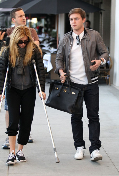 Jesse McCartney Leather Tote