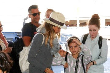 Jessica Alba Cash Warren Jessica Alba and Family at LAX