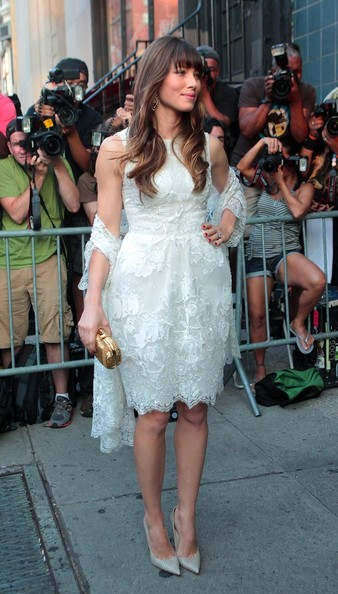 More Pics of Jessica Biel Beaded Dress (1 of 10) - Beaded Dress Lookbook - StyleBistro