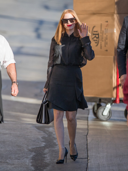 Jessica Chastain Mini Skirt