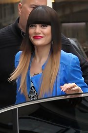 Jessie J kept her funky look intact in a dip-dyed wig with Cleopatra-esque bangs.
