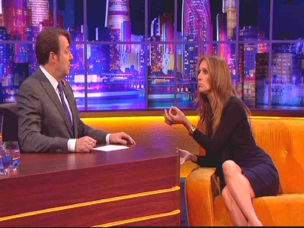 Celine Dion and Andy Murray on 'The Jonathan Ross Show' UK