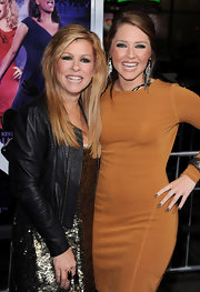 Leigh Anne Tuohy wore her layered blonde hair down at the 'Joyful Noise' world premiere.