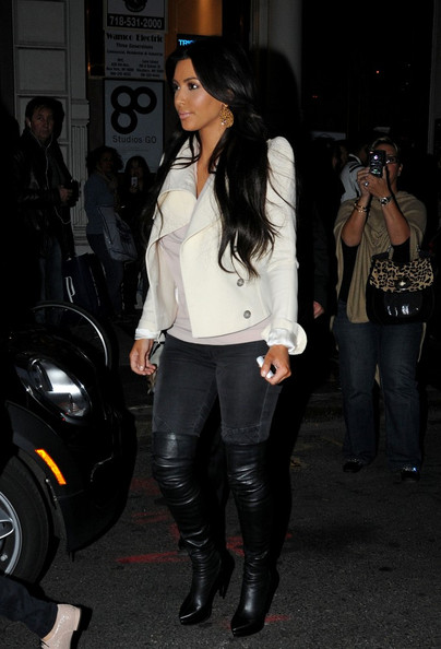 More Pics of Kim Kardashian Over the Knee Boots (4 of 6) - Kim