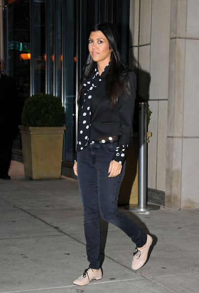 More Pics of Kim Kardashian Over the Knee Boots (1 of 6) - Kim