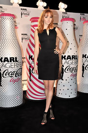 Lily Cole's ruffled black mesh booties at the launch of the Karl Lagerfeld-designed Coke bottles looked downright darling!